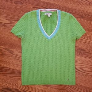 Tommy Hilfiger short sleeved v neck sweater